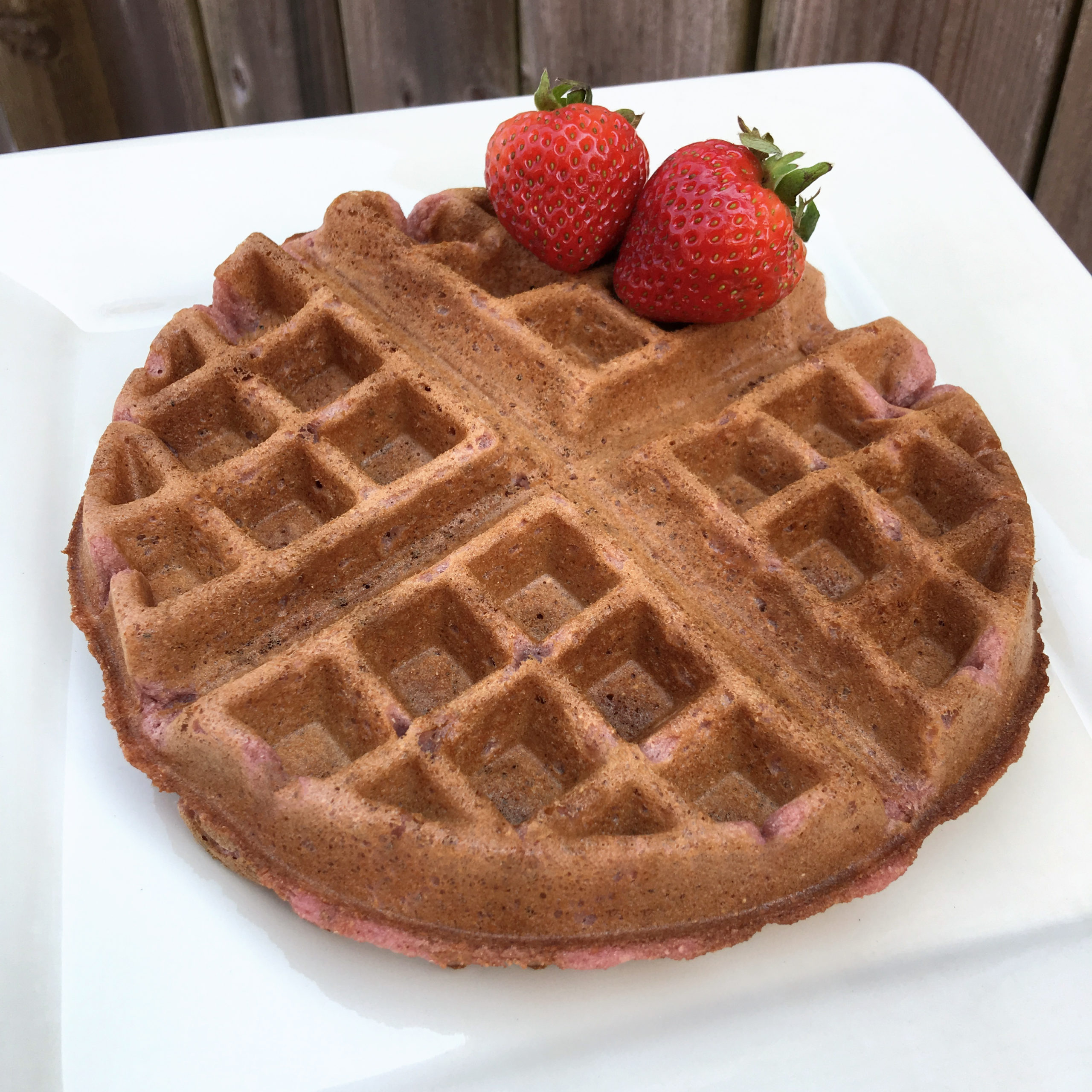 Strawberry Waffles by The Allergy Chef