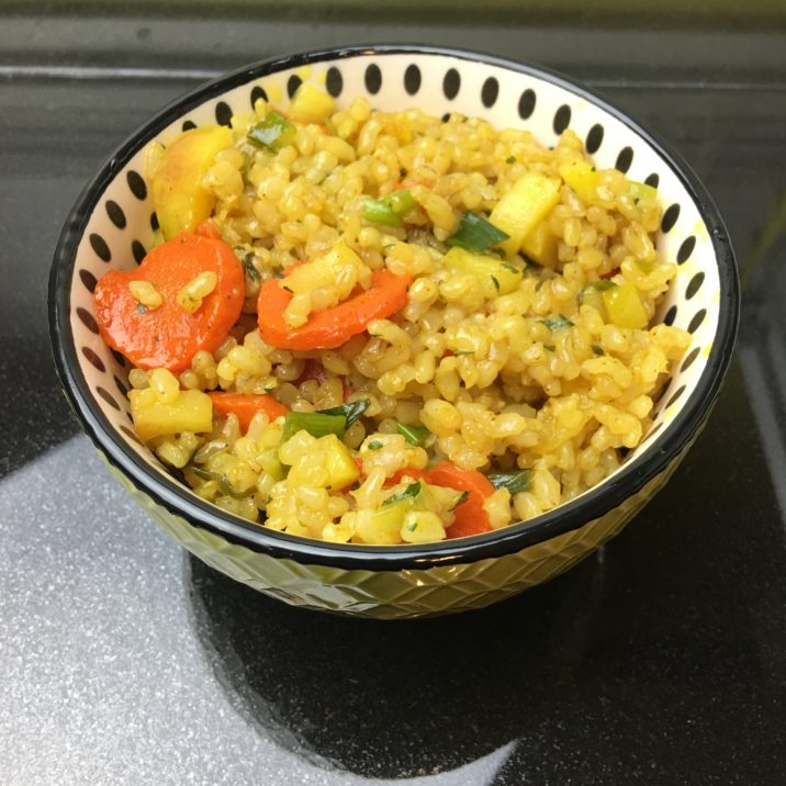 Vegan Curry Fried Rice by The Allergy Chef