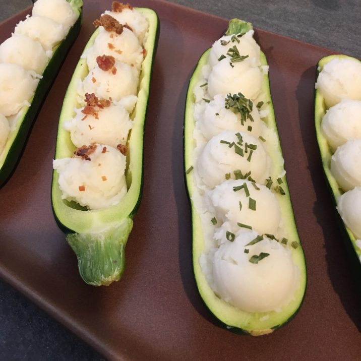 Mashed Potato Zucchini Boats by The Allergy Chef