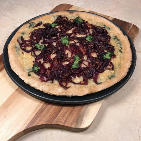 Gluten Free Spinach & Onion Pizza by The Allergy Chef