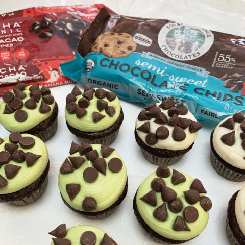 Chocolate Chip & Mint Chip Cupcakes by The Allergy Chef
