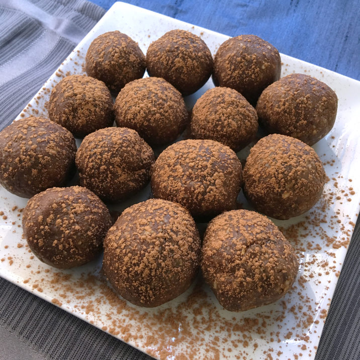 Chocolate Sunflower Butter Power Balls by The Allergy Chef