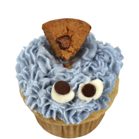 Cookie Monster Cupcake by The Allergy Chef