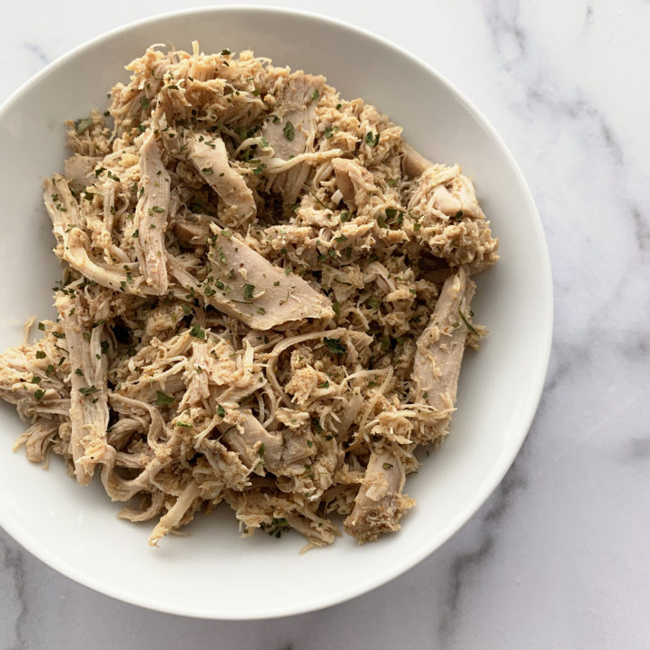 Easy Shredded Chicken by The Allergy Chef