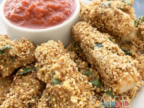 Gluten Free Dairy Free Vegan Cheese Sticks by The Allergy Chef