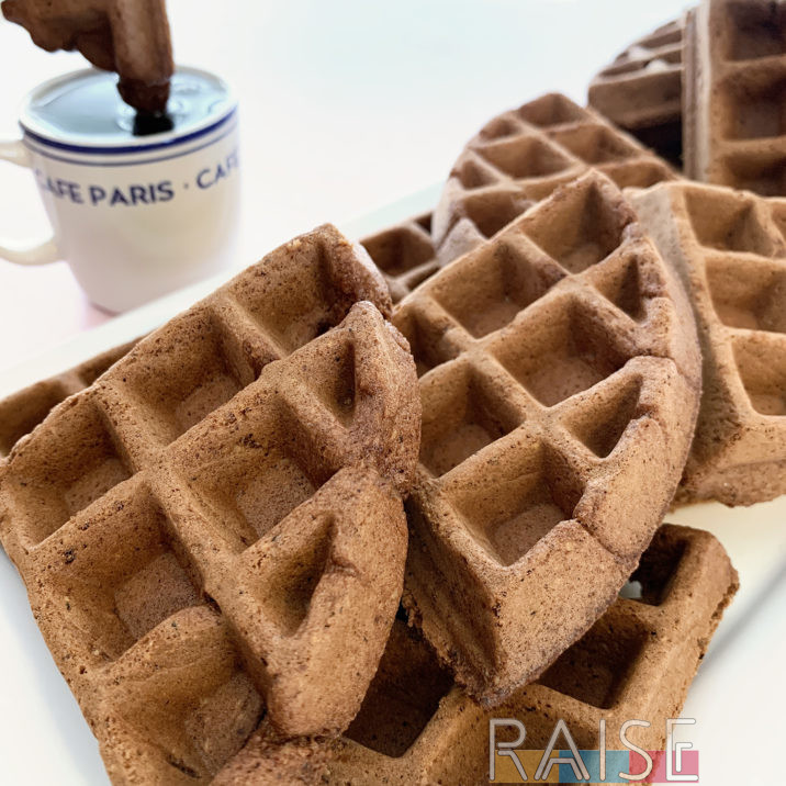 Gluten Free Vegan Chocolate Coffee Waffles by The Allergy Chef