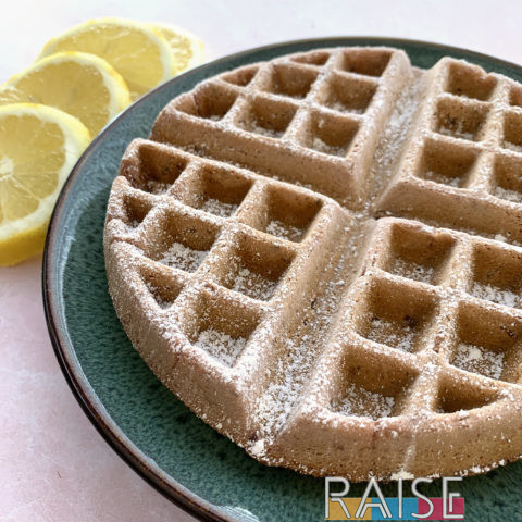 Gluten Free Vegan Waffles: Raspberry Lemonade by The Allergy Chef