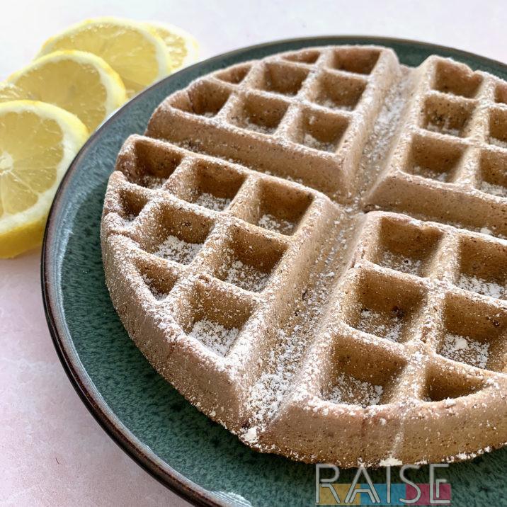 Gluten Free Vegan Waffles: Raspberry Lemonade by The Allergy Chef