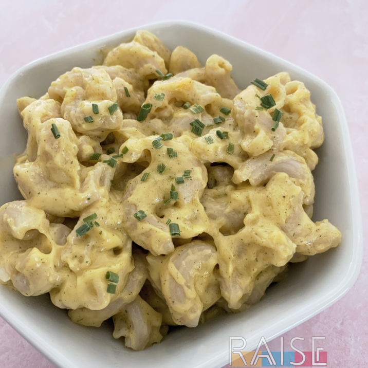 Easy Gluten Free Dairy Free Mac n Cheese by The Allergy Chef