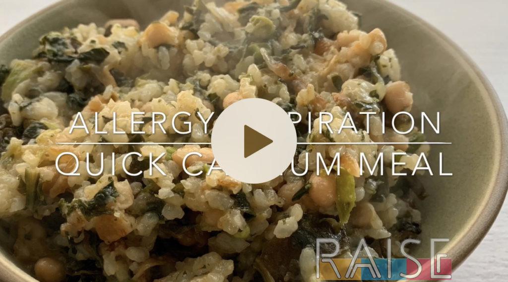 Gluten Free Vegan Quick Calcium Dish by The Allergy Chef
