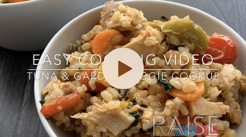 Tuna & Garden Veggie Cookup by The Allergy Chef