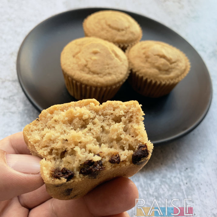 Gluten Free Vegan Chocolate Chip Aquafaba Muffins by The Allergy Chef