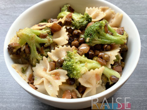 Gluten Free Vegan Veggie Delight Pasta by The Allergy Chef