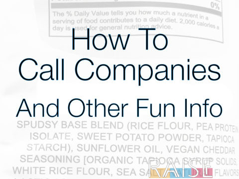 How To Call Companies with The Allergy Chef