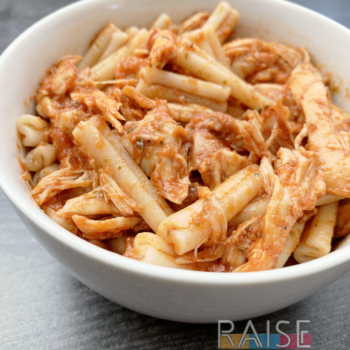 Gluten Free, Top 8 Allergy Free BBQ Chicken Pasta by The Allergy Chef