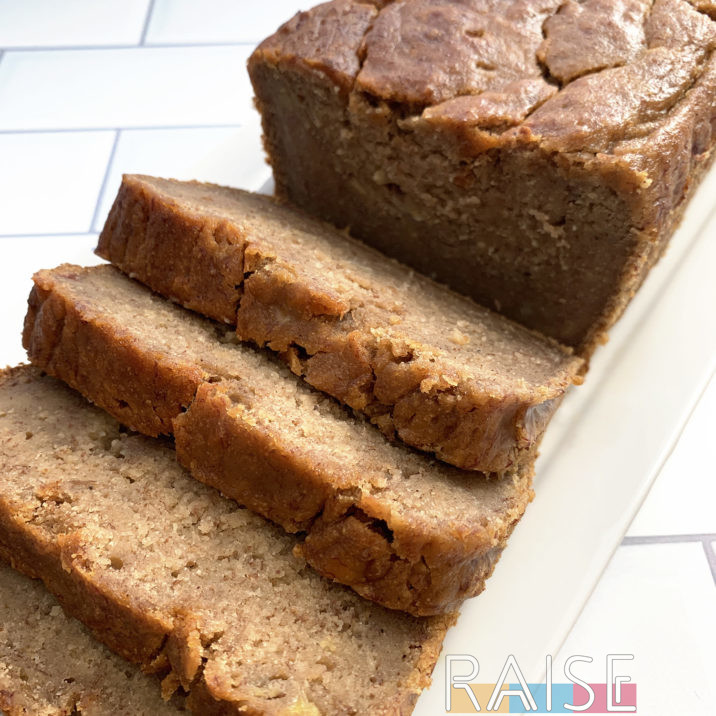 Gluten Free, Vegan, Refined Sugar Free Banana Bread by The Allergy Chef