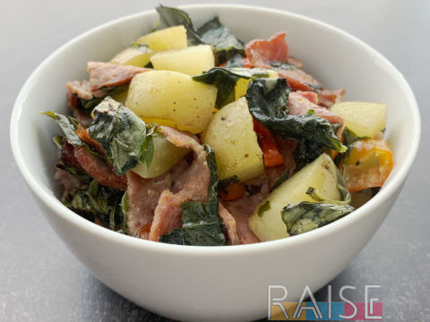 Bacon & Potato Sheet Pan Meal by The Allergy Chef