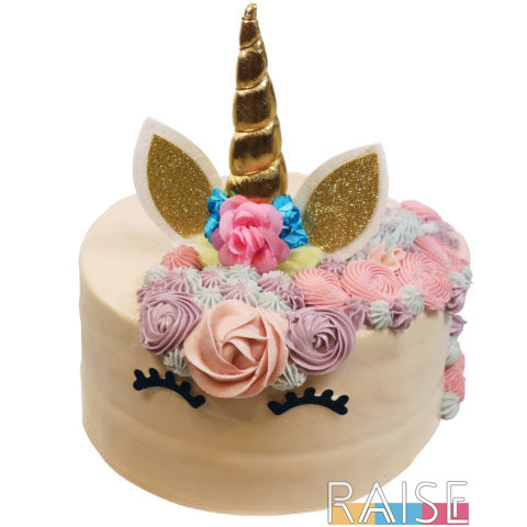 Gluten Free Vegan Unicorn Cake by The Allergy Chef