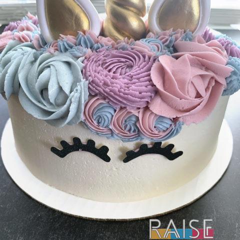 Gluten Free, Vegan, Top 8 Allergy Free Unicorn Cake by The Allergy Chef